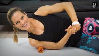 Faszienrollen Oberkörper Training mit Corinna Frey