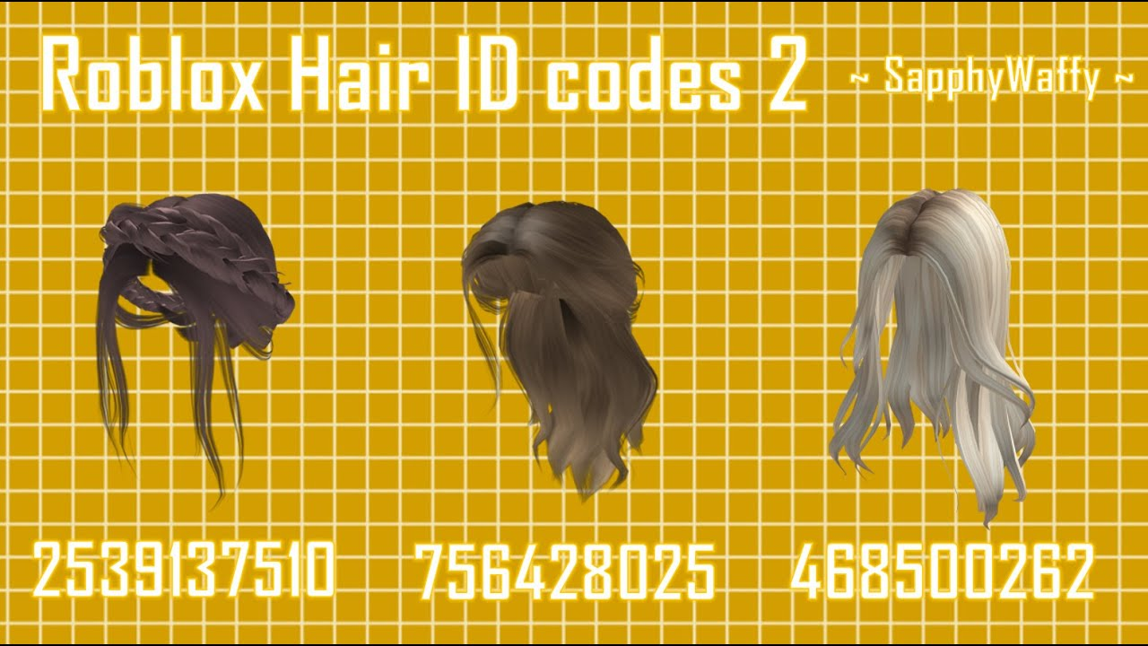 Ombre And Messy Brown Hair Codes Part 4 Roblox Bloxburg Youtube
