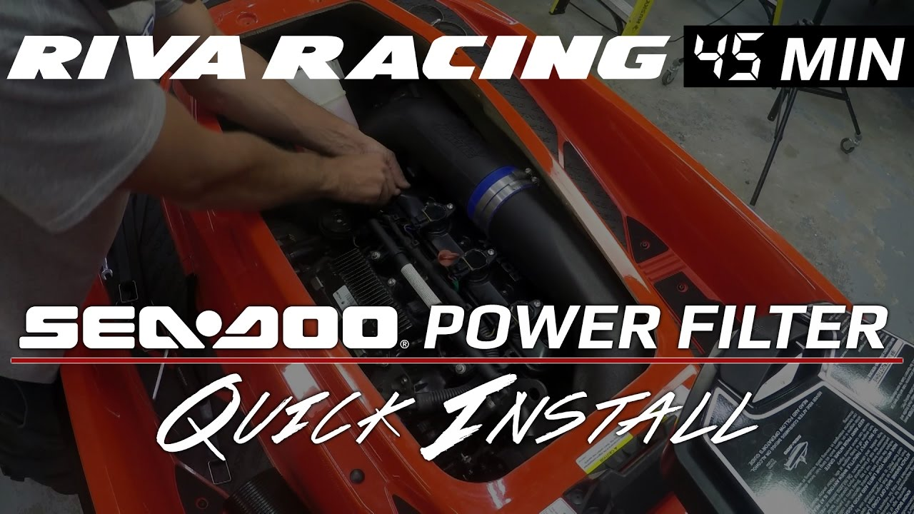Quick Install - RIVA Sea-Doo RXP 300 Power Filter Kit by RIVA Racing