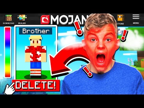 DELETING my LITTLE BROTHERS Minecraft account... **HE FREAKED!!**