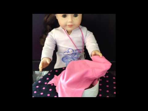 How to make an American Girl Dog bed - YouTube