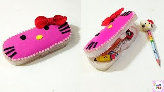 How to make HELLO KITTY Pencil Box / DIY - HELLO KITTY Craft