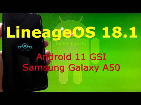 LineageOS 18.1 Android 11 for Samsung Galaxy A50