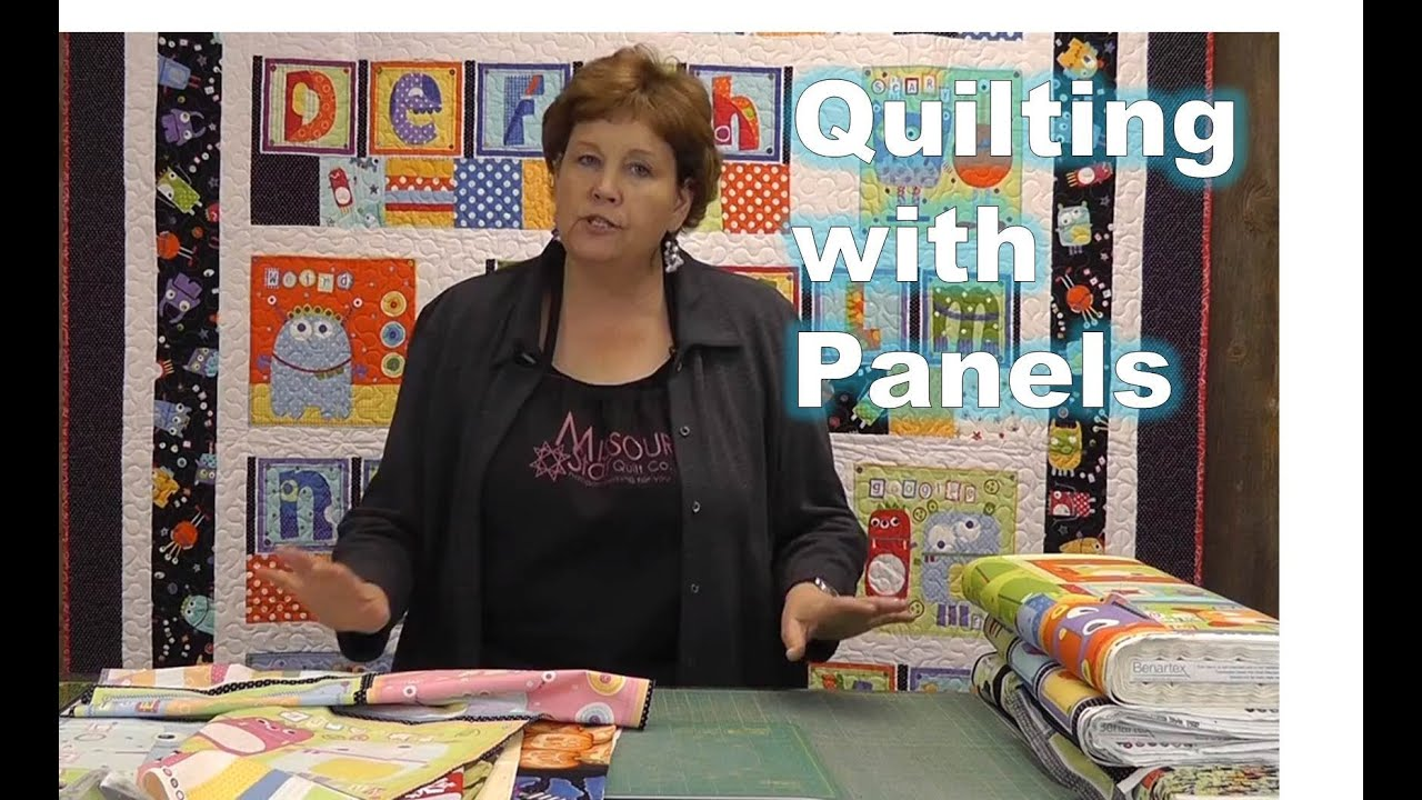 Using Quilting Panels With Precuts Youtube Vintage Story Cushion Shabby Patchwork 60x60cm 2