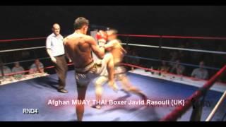 Javid Rasouli Afghan Thai Boxer  Uk
