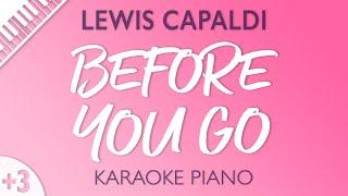 Lewis Capaldi - Before You Go (Karaoke Piano) Higher Key