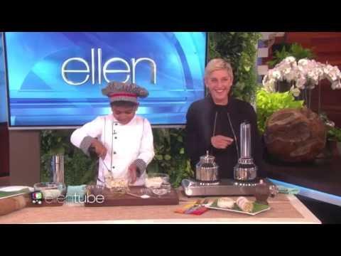 6 Year Old Chef Kicha Cooks with Ellen   Kicha Tube   How to make puttu