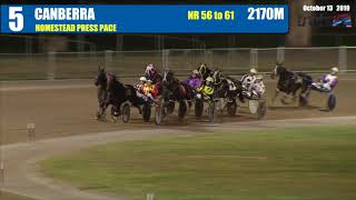 CANBERRA - 13/10/2019 - Race 5 - HOMESTEAD PRESS PACE