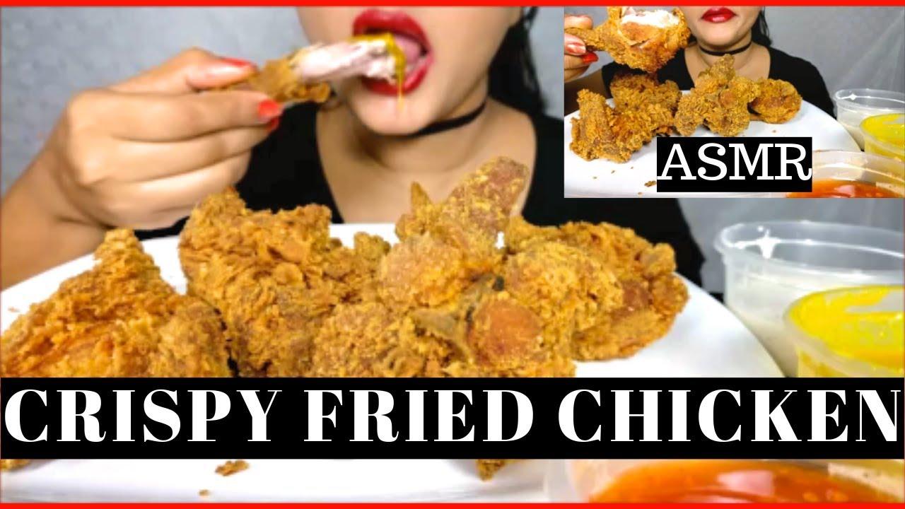 Asmr Crispy Fried Chicken Mukbang No Talking Crispy Eating Sounds