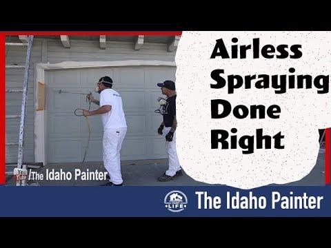 Teaching You How To Spray Doors