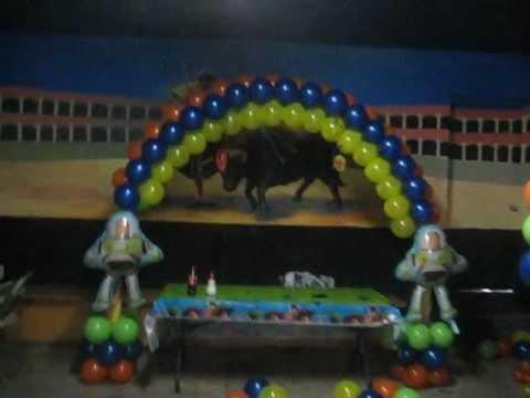 Decoracion Con Globos Toy Story Youtube