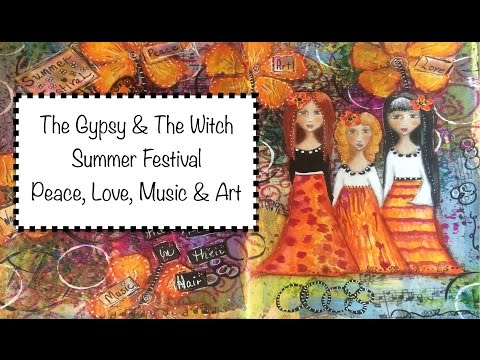 Journal Page Tutorial - The Gypsy & The Witch - Summer Festival