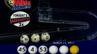 2017 03 21 Mega Millions Numbers and draw results