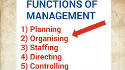 Functions of Management (Business studies class) 12th C.B.S.E