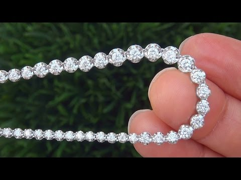 Beverly Hills Celebrity Estate Auction World Class High End Near Colorless Diamond Tennis Necklace