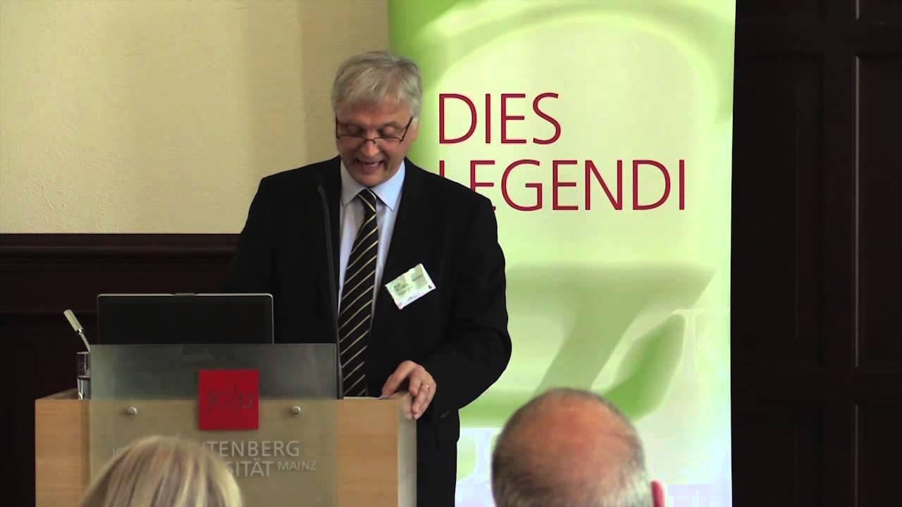 DIES LEGENDI 2014: Festvortrag von Prof. John Greenfield ...