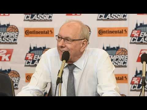 Watch Jim Boeheim's news conference after Syracuse basketball vs. Oregon