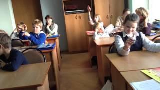 Урок слушангия музыки в первом классе.