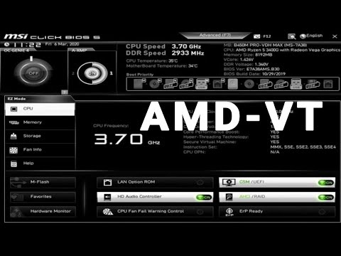 [VT][AMD-V™️]How To Enable AMD Virtualization™️ Technology (VT) On MSI B450M PRO VDH BIOS
