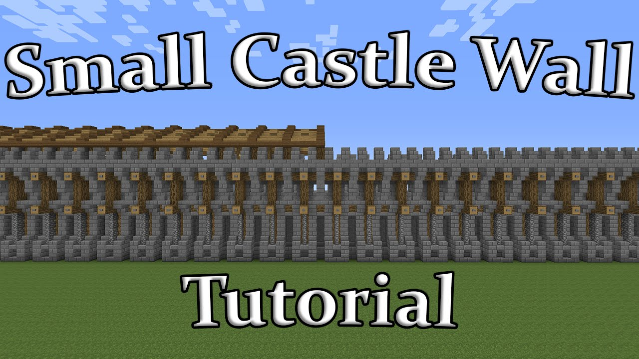 """Minecraft - """"Small"""" Castle Wall Tutorial - YouTube"""