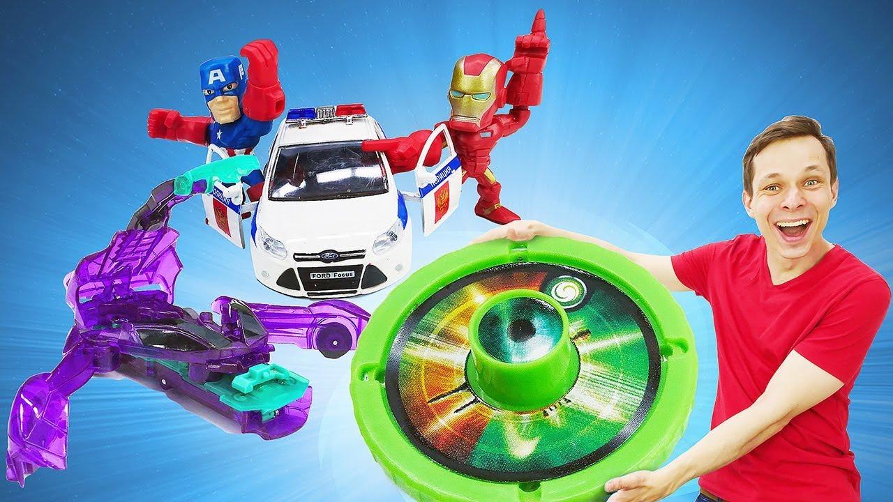 Видео для детей - Дикие Скричеры в городе супергероев! - Игры с машинками в Автомастерской.