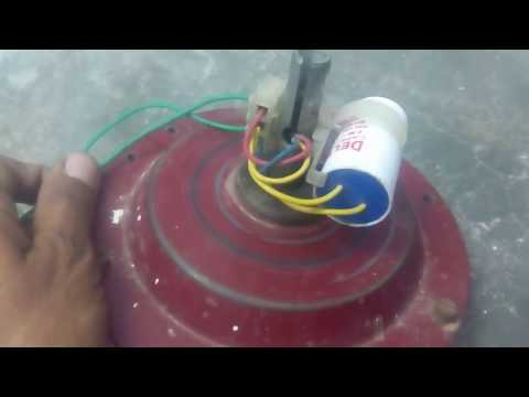 Connection of fan circuit diagram with capacitor part 3