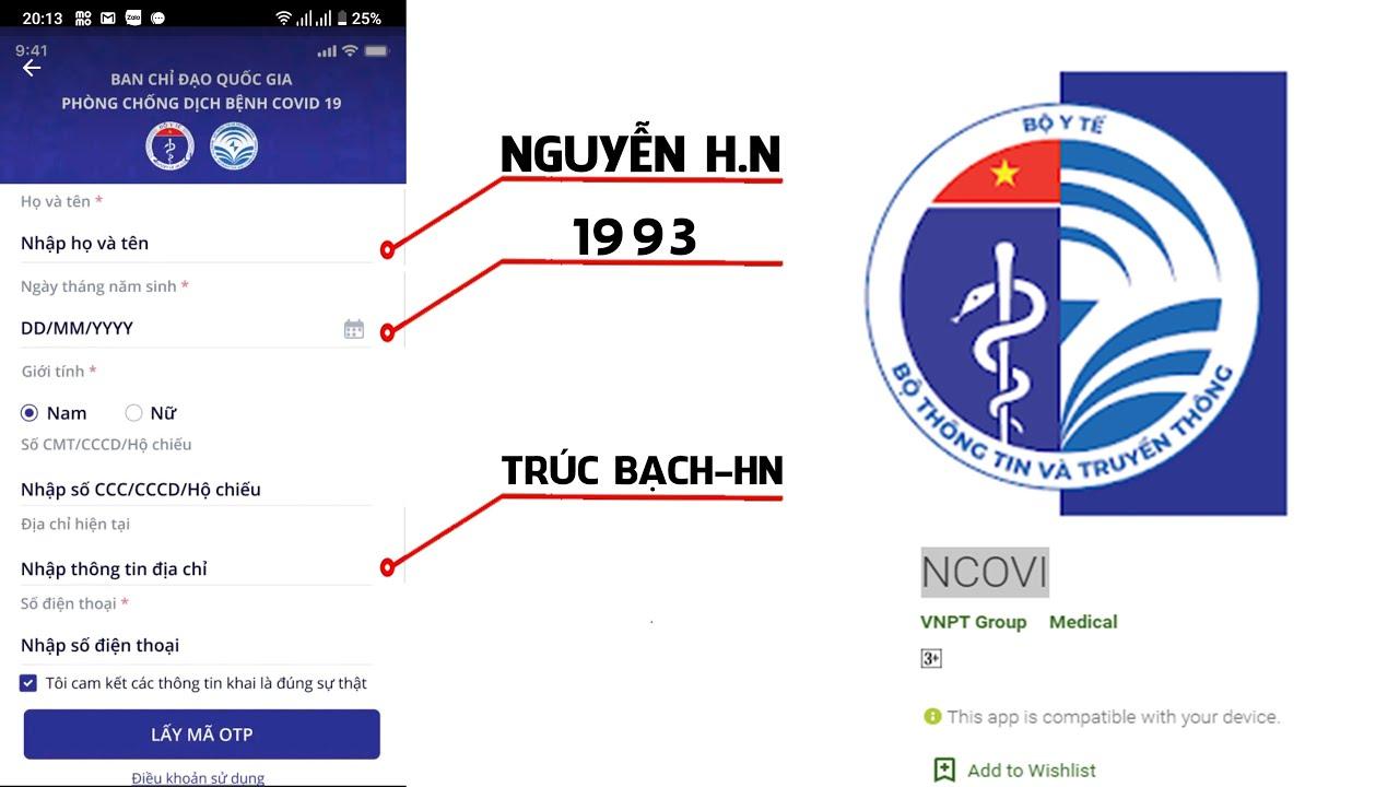 App nCOVI – Hướng dẫn sử dụng phần mềm khai báo y tế toàn dân | Dịch Covid-19 (corona virus)