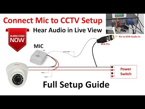 Cctv Mic Connection Connect A Microphone To Dvr Cctv Mic Installation Dvr Mic Youtube
