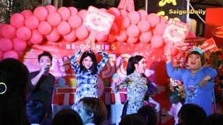 Lô tô show: Su Su, 5 Chà, Linh Anh, Yumi, Tâm Thảo... ĐẸP xuất sắc khi hát show mỹ phẩm