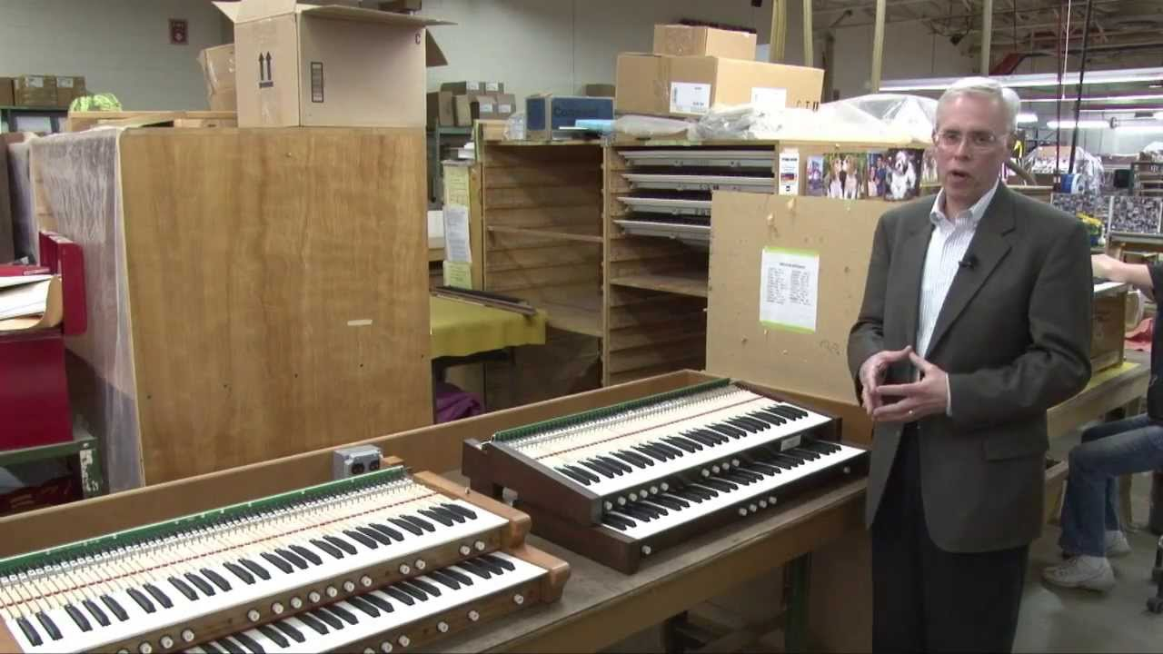 Allen Organ Console Controls Part 1 - KEYBOARDS
