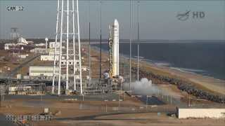Orbital Sciences Antares Rocket Launches Cygnus Orb-1 Resupply Mission To ISS