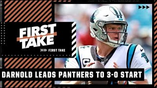 Stephen A. reacts to Sam Darnold leading the Panthers to a 3-0 start | First Take