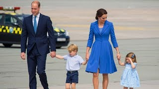 Prince William and Princess Kate arrive in Germany