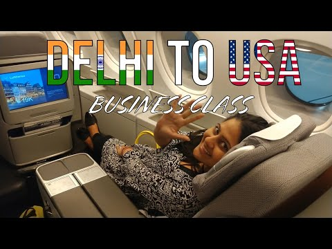 DELHI TO USA BUSINESS CLASS INDIAN VLOGGER STYLE family vlog