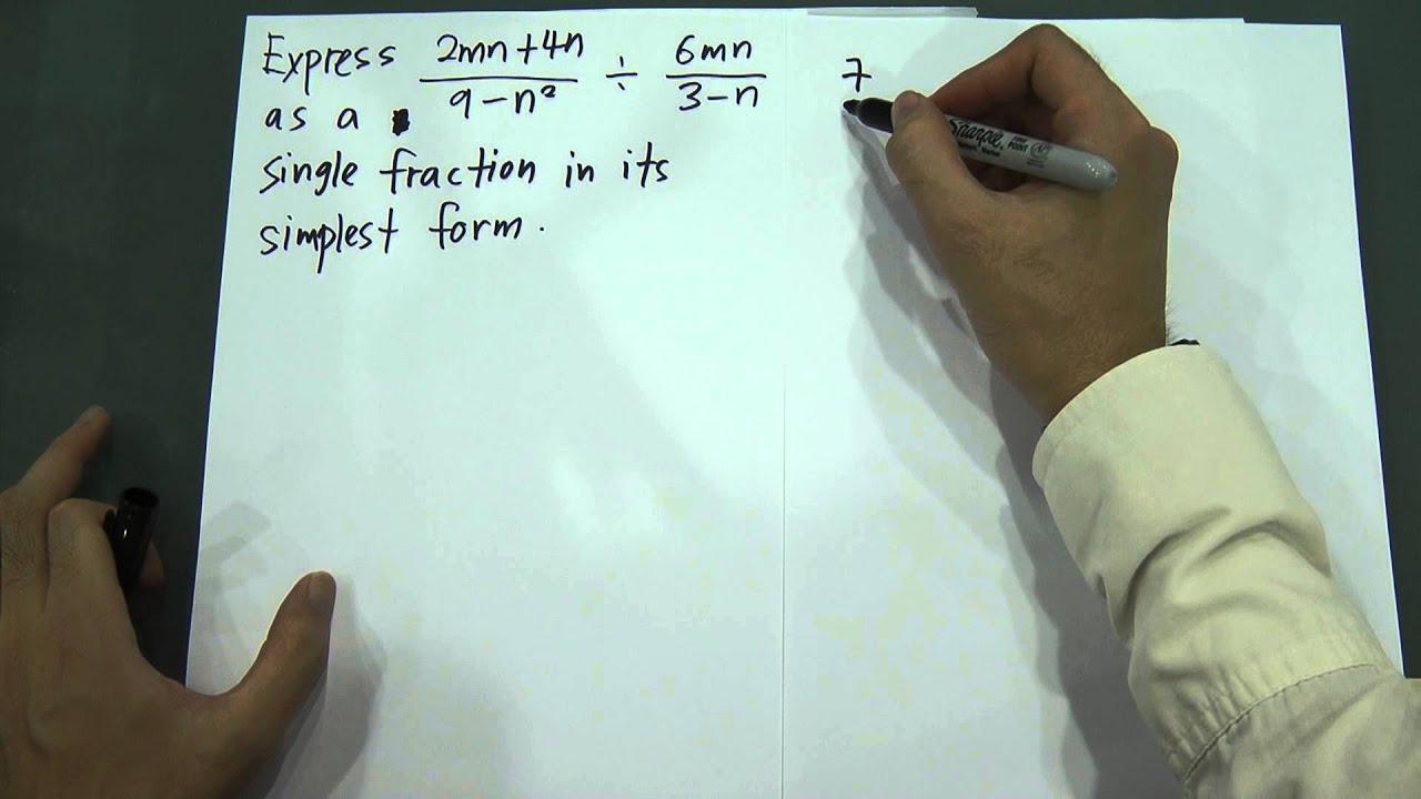 SPM Form 3 & 4 - Maths - Algebraic Expression