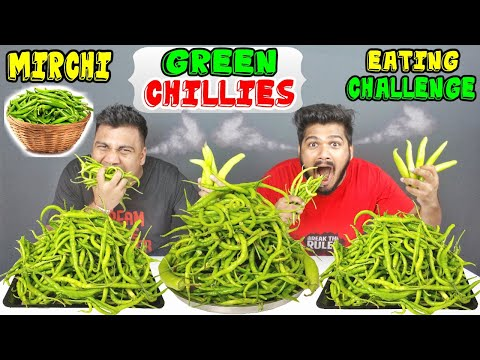 GREEN CHILLIES EATING CHALLENGE | MIRCHI EATING COMPETITION | SPICY FOOD CHALLENGE | (Ep-191)