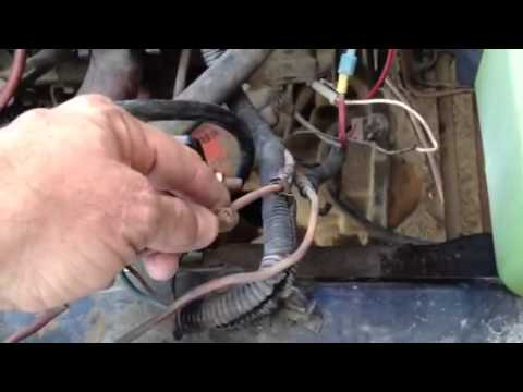 jeep cj7 alternator wiring ashley's '80 cj7 304v8 alternator wiring repair. - youtube