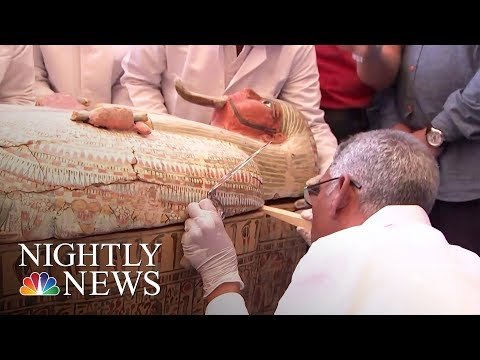 Egypt Opens Ancient Coffins To Find Perfectly Preserved Mumm