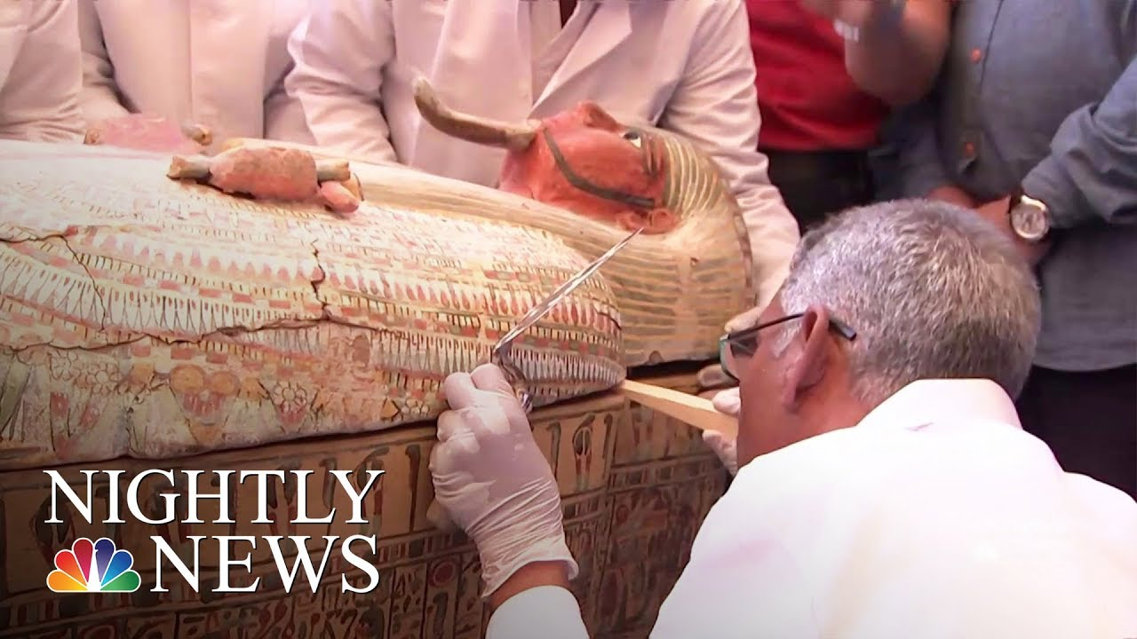 Egypt Opens Ancient Coffins To Find Perfectly Preserved Mummies | NBC Nightly News