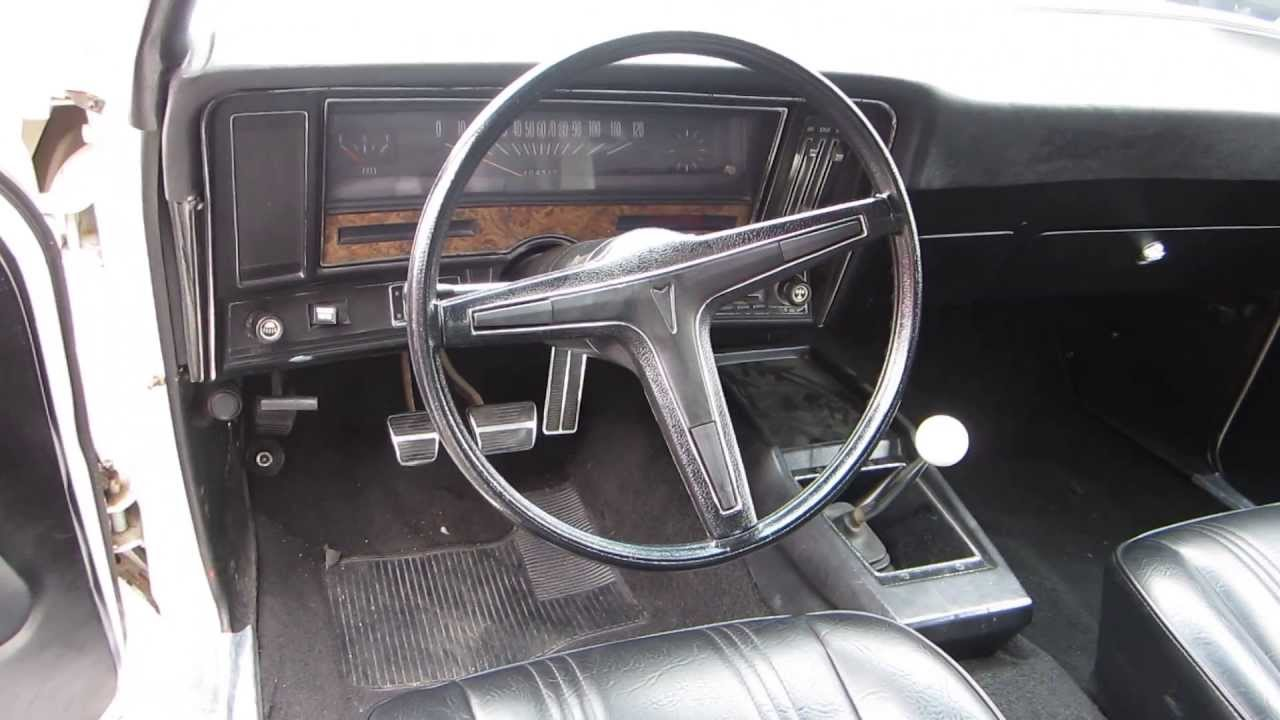 1974 Pontiac GTO, White   STOCK# 131959   Interior
