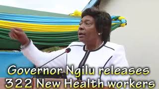 Governor Charity K Ngilu receives Cuban Doctors and Launches Polio vaccination period in Kitui count