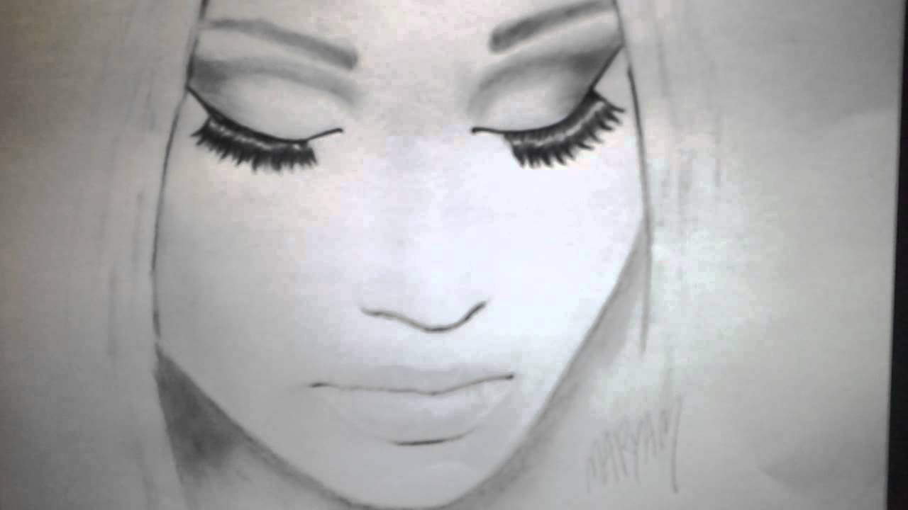 Drawing nicki minaj youtube drawing nicki minaj voltagebd Image collections