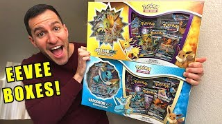 *NEW EEVEELUTION BOXES!* Opening NEW Pokemon Cards Eevee Special Collection GX Box! Jolteon Vaporeon