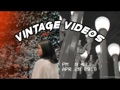how to edit vintage videos on iPhone! (vhs, retro filters, etc)