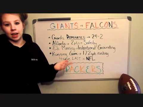 dumb blonde football- 2011-2012 NFL playoffs Giants/Falcons recap, Giants/Packers pick