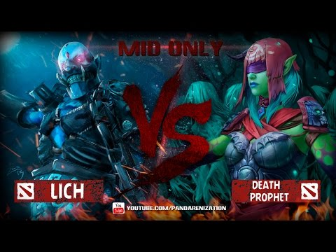 видео: lich vs death prophet [Битва героев мидонли dota2]