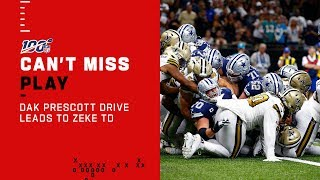 Dak Leads Dallas Downfield Finishing w/ Ezekiel Elliott TD!