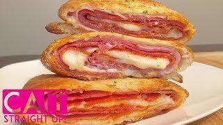 Italian Sub Stromboli Recipe  Italian Sub Hot Roll  Cait Straight Up