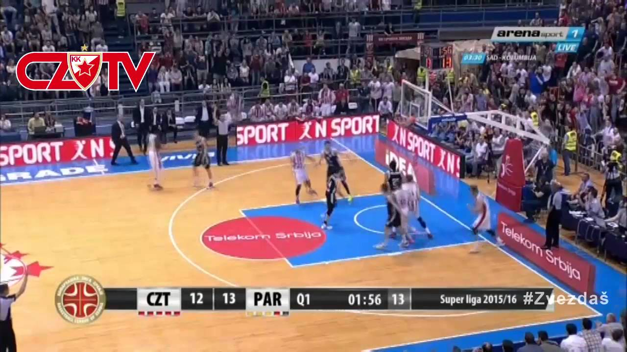 Kk Crvena Zvezda Telekom Kk Partizan Igrač Utakmice Miler Finale 2016