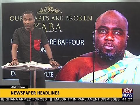 AM Show Newspaper Headlines on JoyNews (13-12-17)